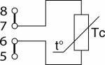 Схема подключения термопреобразователя сопротивления по 2-х проводной схеме