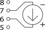 Схема подключения при измерении напряжения постоянного тока