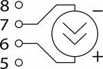 Схема подключения при измерении постоянного тока