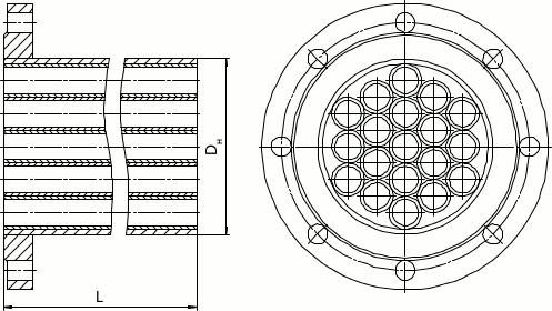 Трубчатый струевыпрямитель - исполнение 1