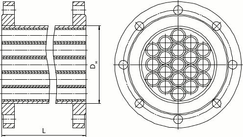 Трубчатый струевыпрямитель - исполнение 3