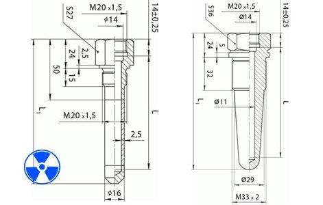Гильзы термометрические ГТ-701, ГТ-702 для датчиков температуры атомных станций